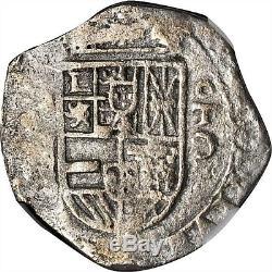 Nd(1595-1598)c Spain Felipe II Silver Cob 2 Reales Ngc Xf-details L@@k