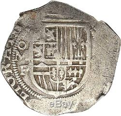 Nd (1607-1614) Mo-f Mexico Felipe III Silver Cob 4 Reales Ngc Vf-details