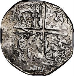 Nd(1611-1615) B Spain Felipe III Silver Cob 4 Reales Ngc Xf-details Cleaned
