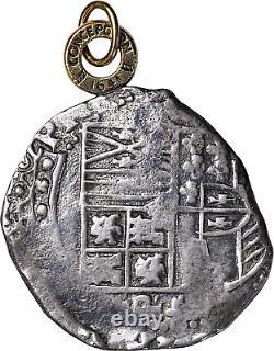 Nd (1622-1624) Potosi Felipe IV Silver Cob 8 Reales Conception Shipwreck