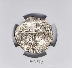 Nd (1626-1648) P Potosi Felipe IV Silver Cob 2 Reales Ngc Au50