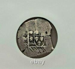 Nd (1729-1730) Mo-r Mexico Felipe V Silver Cob 2 Reales Ngc F-15 L@@k