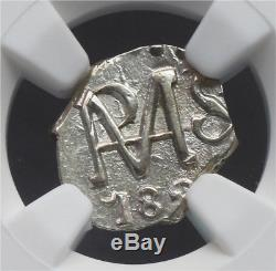 Ngc-ms63 1823 Honduras 1/2real Tegucigalpa Cob Silver Top Grade