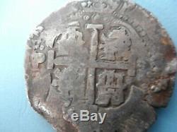 Nice 8 reales Silver Cob Bolivia Potosi 1658P E