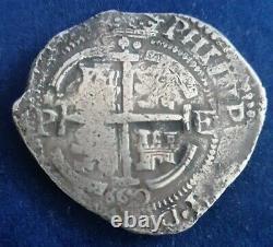 Nice Potosi Philip IV 8 Reales Silver Cob 1660 Double Date Essayer E Ergueta