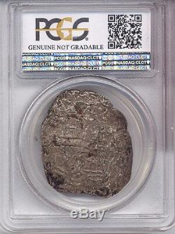 No Date PCGS Secure VF Mexico 8 R Reales COB silver AC