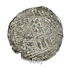 Nuestra Senora de Atocha Philip III 8 Reales Assayer T Silver Cob Coin 20.5g