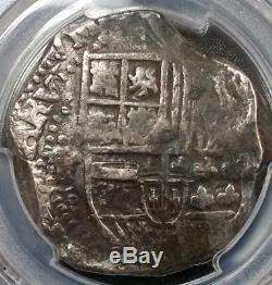 PCGS Rare Shipwreck Effect Spain 8 Reale Cob Philip III 1599-62 Pillar Coin