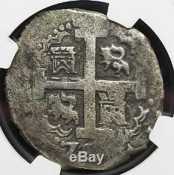 PERU. Silver Cob 8 Reales, 1728-L, 22.00 g, NGC VF Details