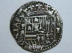 PHILIP BOLIVIA 1 REAL COB POTOSI 1596/1612 RL AN BR IN MONOGRAM Ancient COLONIAL