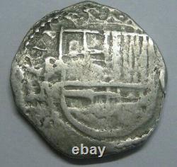 PHILIP III 2 REAL COB POTOSI ASSAYER M 1600s COLONIAL ERA BOLIVIA SILVER SPANISH