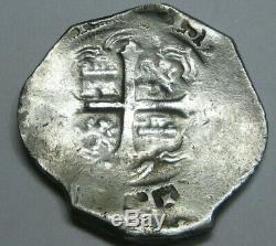 PHILIP III 4 REAL COB MEXICO 1600s SPANISH SILVER COLONIAL ERA ANTIQUE COB