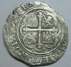 PHILIP II 4 REAL COB MEXICO 1500s ASSAYER O SPANISH SILVER COLONIAL ERA COB