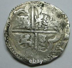 PHILIP IV 8 REAL COB 1600s POTOSI ASSAYER T SPANISH SILVER DOLLAR COLONIAL ERA