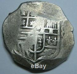PHILIP IV 8 REAL COB MEXICO 1600s BEAUTIFUL SPANISH SILVER DOLLAR COLONIAL ERA
