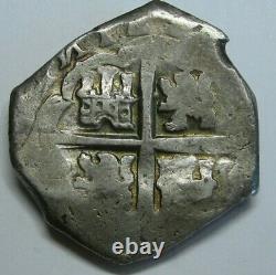 PHILIP IV 8 REAL COB SEVILLA ASSYER R 1600s SPANISH SILVER DOLLAR COLONIAL ERA