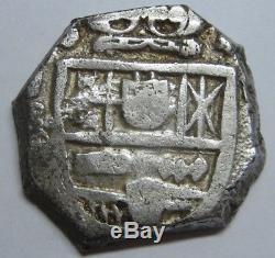 Philip 4 Real Cob Spain Era Atocha Peninsular Mint Spanish Colonial Silver Coin