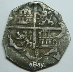 Philip III 2 Real Cob Toledo Spain Assayer C Spanish Colonial Silver Era Atocha
