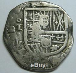 Philip III 4 Real Cob Spain Toledo Assayer V Spanish Half Dollar Colonial
