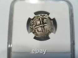 Philip III SPAIN 2R Two Reales NGC VF 20 Silver 1612-1620 Seville COB Shield