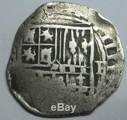 Philip II 1 Real Cob Mexico Spain Colonial Assayer F Silver Coin Spanish