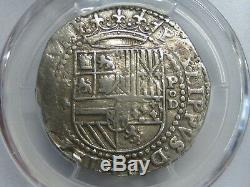 Philip II 4 Real Cob Lima Pcgs Xf Detail 1556-98 Peru Spanish Silver Colonial