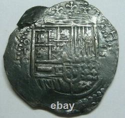 Philip II 4 Real Cob Toledo Spanish Silver Colonial Era Antique Cob Assayer C