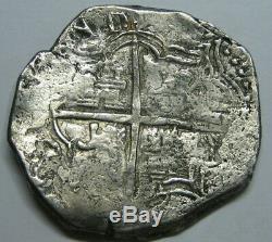 Philip II 8 Real Cob Potosi Bolivia Assayer M Spanish Dollar Colonial Era Silver