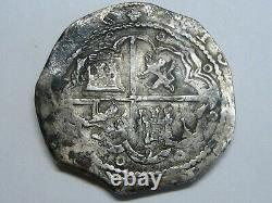 Philip II 8 Real Cob Toledo Spain Assayer M Spanish Colonial Silver Coin