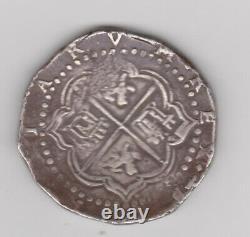 Philip II Cob 8 Reales ND (1555-98) P-B Potosi mint, KM5.1. Mostly well struck