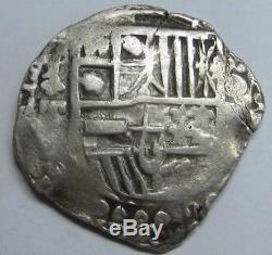Philip IV 4 Real Cob Potosi Assayer T Bolivia Very Scarce Spanish Colonial