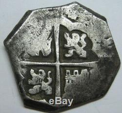 Philip IV 4 Real Cob Spain 1642 Peninsular Spanish Colonial Silver Scarce