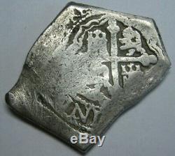 Philip V 8 Real Cob Mexico Era 1715 Treasure Fleet Assayer J Colonial Silver