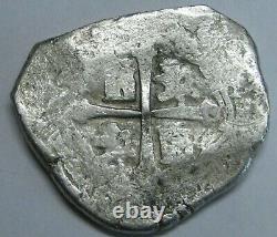 Philip V 8 Real Cob Mexico Era 1715 Treasure Fleet Silver Dollar Colonial Era
