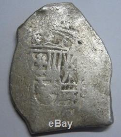 Philip V 8 Real Cob Mexico Era 1715 Treasure Fleet Spain Colonial Silver