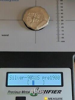 Philip V AR Cob 8 Reales. Possibly Mexico City Mint. 1700-1746 AD