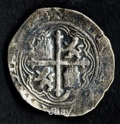 Pirate Cob Spanish colonial Philip II Silver 4 Reales Mexico Mº-O shipwreck