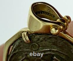 Pirate Coin Treasure Silver Piece Antique 1 Reale Cob 14K Gold PendantAuthentic