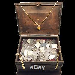 Pirate Shipwreck Treasure! 62 Silver Pieces of 8 Cob Reales Portugal Wreck