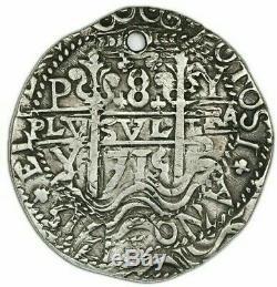 Potosi, Bolivia, Silver Cob 8 Reales Royal (Galano), 1715Y Very Rare Date KM-R31