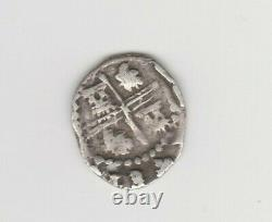 Potosi, Bolivia, cob 1/2 real, Philip III, assayer R (straight leg) below mint