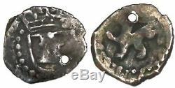 Potosi, Bolivia, cob 1/4 real, Philip III, no assayer, shield around castle