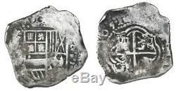 Potosi, Bolivia, cob 2 reales, (1)651E, rare. #1015