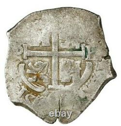 Potosi, Bolivia, cob 4 reales, 1670 E. 12.7 grams. AVF with nearly full shield