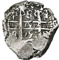 Potosi, Bolivia, cob 8 reales, 1751q/E. S-P52 KM-40. 26.72 grams. Choice