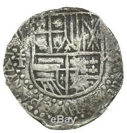 Potosi, Bolivia, cob 8 reales, Philip III, assayer T, full HYSPANYA(RVM)