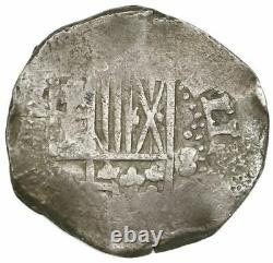 Potosi, Bolivia, cob 8 reales, Philip IV, assayer not visible (ca. 1640)