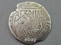 Potosi King Philipp II -silver- 8 Reales Cob P B Scarce