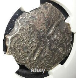 Princess Louisa SHIPWRECK SALVAGED SILVER COB 1556-1743 NGC GRADED GENUINE