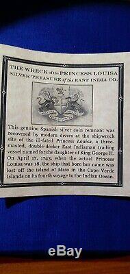 Princess Louisa Shipwreck 8 Reales NGC Silver COB Sunken Treasure Salvor's Hoard
